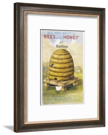 Beehive and One Bee--Framed Giclee Print