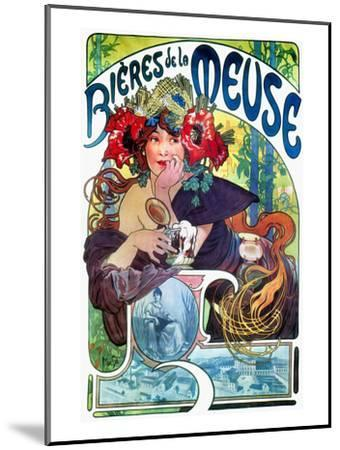 Beer Ad By Mucha, C1897-Alphonse Mucha-Mounted Giclee Print