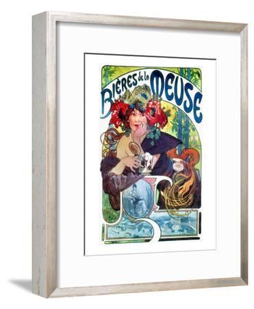Beer Ad By Mucha, C1897-Alphonse Mucha-Framed Giclee Print