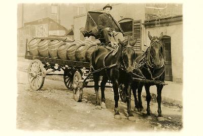 Beer Barrel Wagon--Art Print
