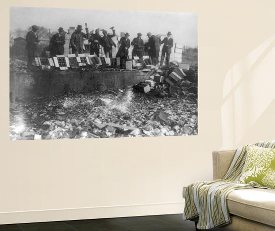 Beer Bottles Smashed During Prohibition Photograph - Washington, DC-Lantern Press-Wall Mural