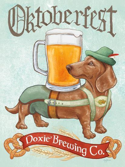 Beer Dogs III-Wild Apple-Art Print