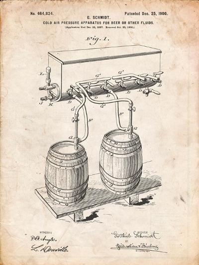 Beer Keg Cold Air Pressure Tap-Cole Borders-Art Print
