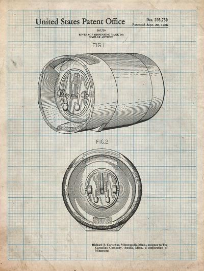 Beer Keg Patent-Cole Borders-Art Print