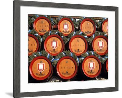 Beer Kegs, Oktoberfest, Bayern, Munich, Germany--Framed Photographic Print