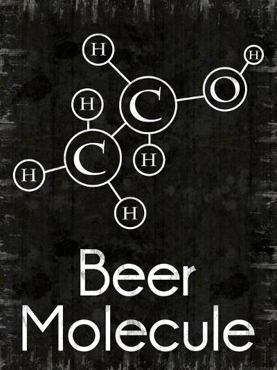 Beer Molecule Rect-Lauren Gibbons-Art Print