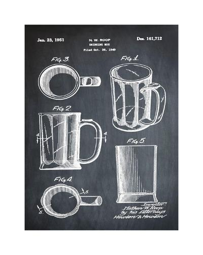 Beer Mug 1951 Chalk-Bill Cannon-Giclee Print