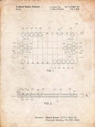 Beer Pong Patent-Cole Borders-Art Print