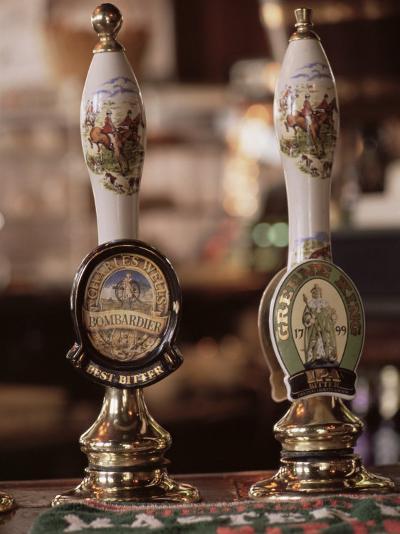 Beer Pumps, Sun Pub, London, England, United Kingdom-Adam Woolfitt-Photographic Print