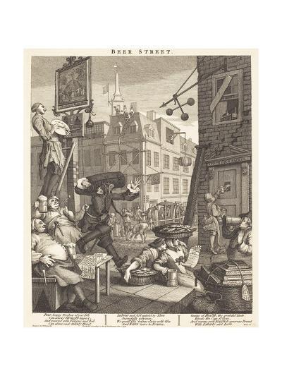 Beer Street-William Hogarth-Giclee Print