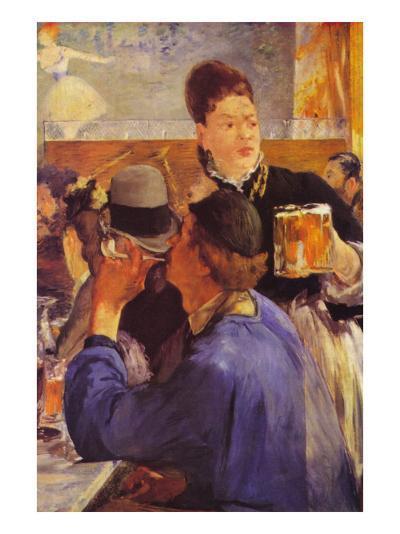 Beer Waitress-Edouard Manet-Art Print