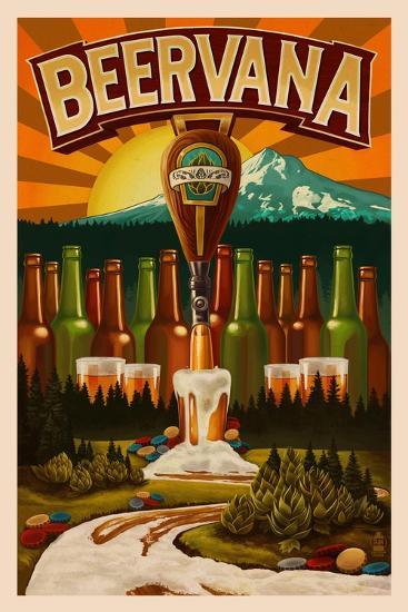 Beervana-Lantern Press-Art Print