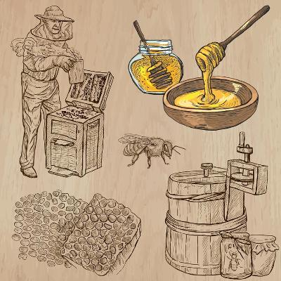 Bees, Beekeeping, and Honey-KUCO-Art Print