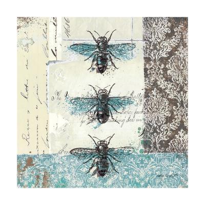 Bees n Butterflies No. I-Katie Pertiet-Art Print