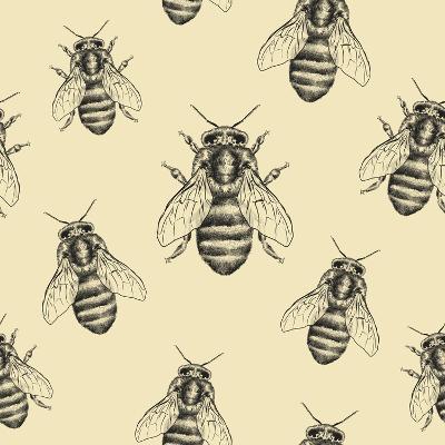Bees Texture. Seamless Pattern-MargaritaSh-Art Print