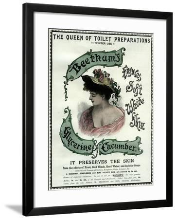 Beetham's Glycerine and Cucumber Cream, 19th Century--Framed Giclee Print