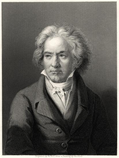 Beethoven, 19th Century-William Holl II-Giclee Print