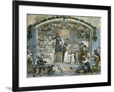 Befana in Rome-Jean-Baptiste Thomas-Framed Giclee Print