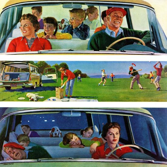"""Before, During & After Picnic"", September 5, 1959-John Falter-Giclee Print"