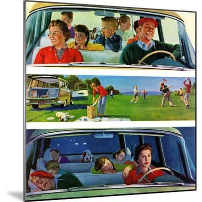 """""""Before, During & After Picnic"""", September 5, 1959-John Falter-Mounted Giclee Print"""