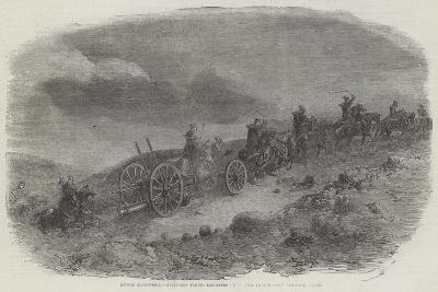 Before Sebastopol, Artillery Taking Lancaster Guns Down to the First Parallel, Night--Giclee Print