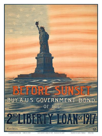 Before Sunset - Buy A U.S. Government Bond of the 2nd Liberty Loan of 1917-Eugenie De Land-Art Print