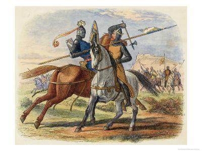 Before the Battle King Robert De Bruce VIII Kills Sir Henry De Bohun in Single Combat-James Doyle-Giclee Print