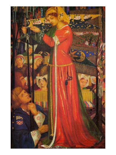 Before the Battle-Dante Gabriel Rossetti-Art Print