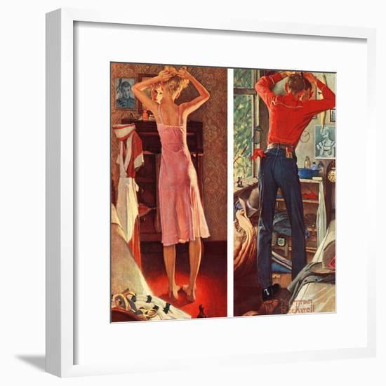 """Before the Date"", September 24,1949-Norman Rockwell-Framed Giclee Print"