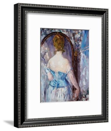Before the Mirror-Edouard Manet-Framed Art Print