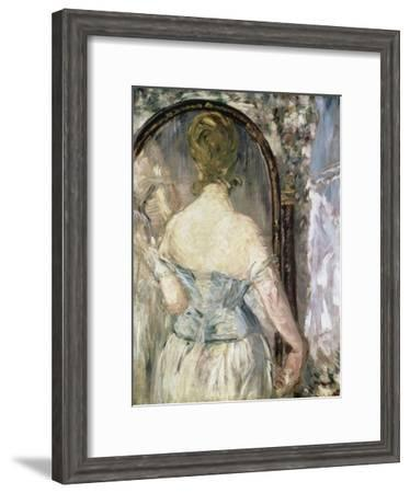 Before the Mirror-Edouard Manet-Framed Giclee Print