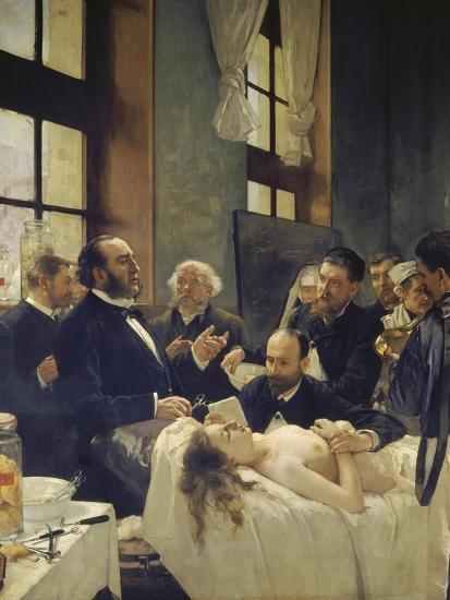 Before the Operation, or Doctor Pean Teaching at Saint-Louis Hospital, 1887-Henri Gervex-Giclee Print