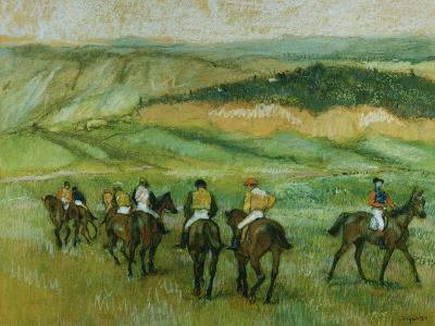 Before the Race-Edgar Degas-Giclee Print