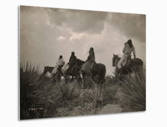 Before the Storm, Apache-Edward S^ Curtis-Metal Print