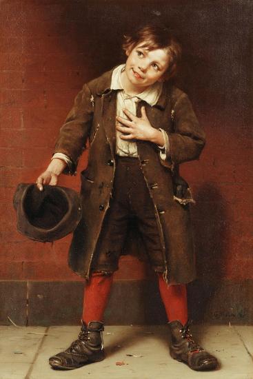 Beggar Boy, C.1885-1887-John George Brown-Giclee Print
