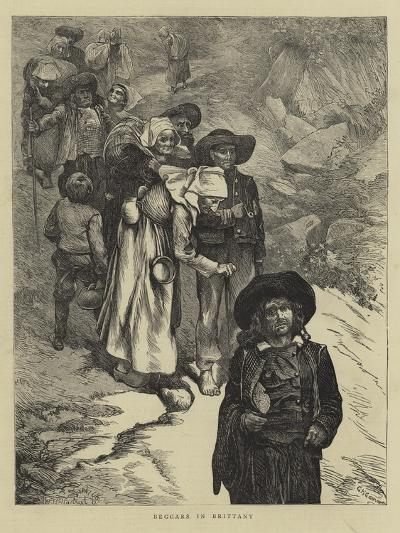 Beggars in Brittany--Giclee Print