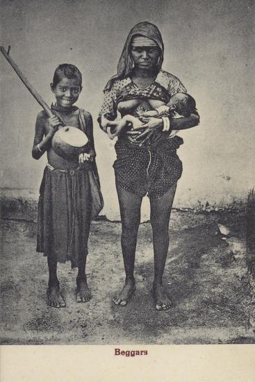 Beggars in Sri Lanka--Photographic Print