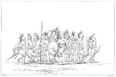 Begging Dance, Sac and Fox, Rock Island, Upper Mississippi, 1841-Myers and Co-Giclee Print