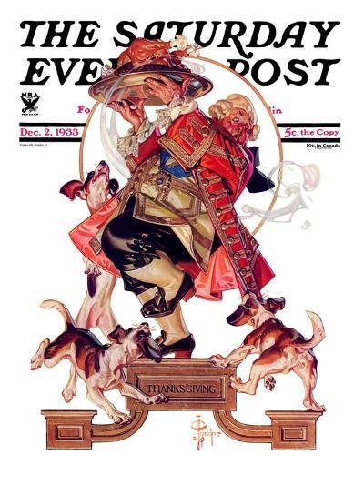 """Begging for Turkey,"" Saturday Evening Post Cover, December 2, 1933-Joseph Christian Leyendecker-Giclee Print"