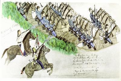 Beginning of the Battle of the Little Big Horn, Montana, USA, June 1876--Giclee Print