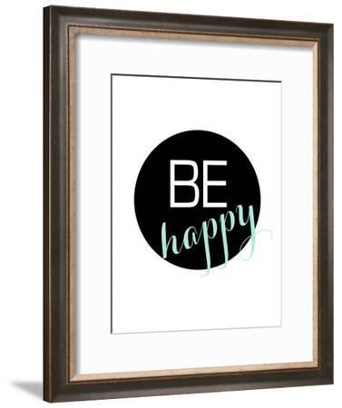 Behappy-Nanamia Design-Framed Art Print