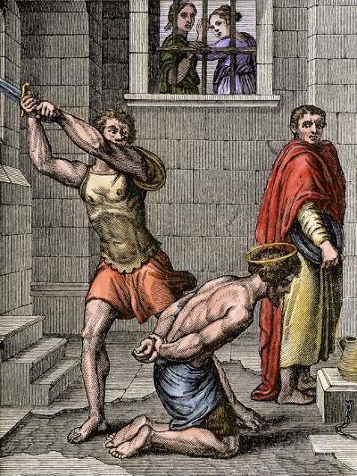 Beheading of John the Baptist by Order of King Herod--Giclee Print