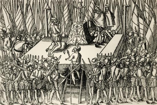 Beheading of Lamoral, Count of Egmont, and Philip De Montmorency, Count of Horn, 1568--Giclee Print