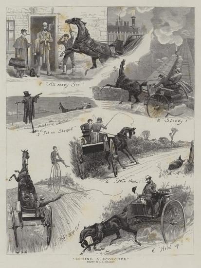 Behind a Scorcher-John Charles Dollman-Giclee Print