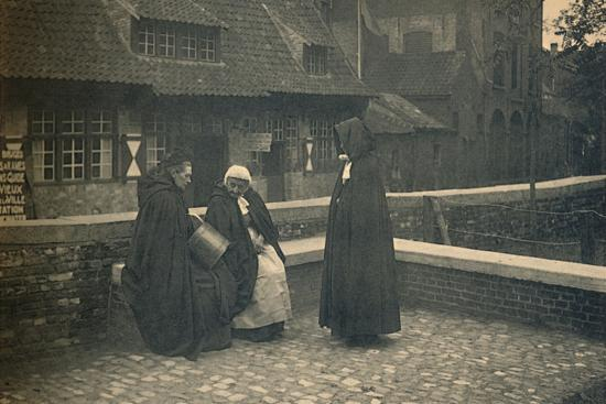 'Behind the Gruuthuse. Types of Bruges', c1910-Unknown-Photographic Print