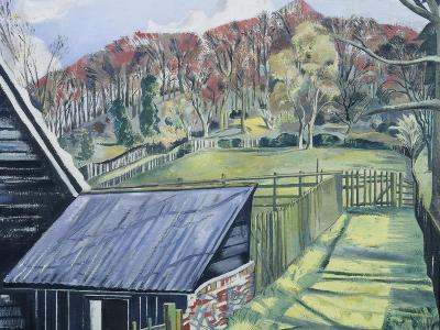Behind the Inn-Paul Nash-Giclee Print