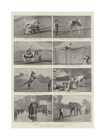 Behind the Scenes of a Travelling Circus--Giclee Print