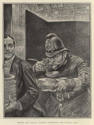 Behind the Scenes, Robert Intercepts the Turtle Soup-Charles Paul Renouard-Giclee Print
