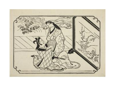 Behind the Screen, C.1673-81-Hishikawa Moronobu-Giclee Print
