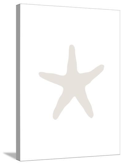 Beige 2 Starfish-Jetty Printables-Stretched Canvas Print